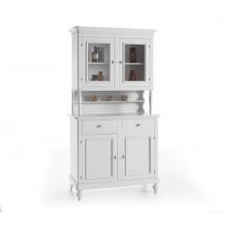 Credenza con vetrina classica bianca nuova art.6033A-6032A consegna gratuita-arredamentishop.it   Offerte mobili 440,00€ 440...