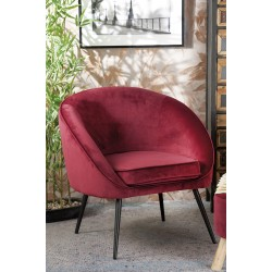 Poltrona in velluto rossa nuova art.53869 consegna gratis-arredamentishop.it   Offerte mobili 140,00€ 140,00€ 140,00€ 140,...