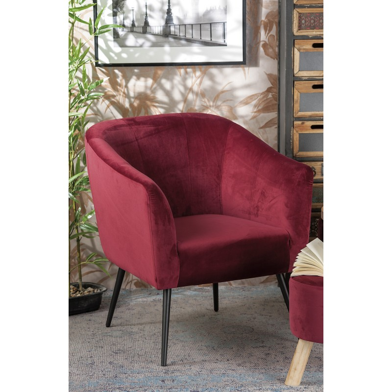 Poltrona in velluto rossa nuova art.53873 consegna gratuita-arredamentishop.it   Home 148,00€ 148,00€ 148,00€ 148,00€
