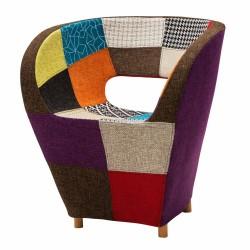 Poltroncina Patchwork Tessuto Multicolor NUOVA art. LF444 consegna gratis-arredamentishop.it   Offerte mobili 220,00€ 220,00...