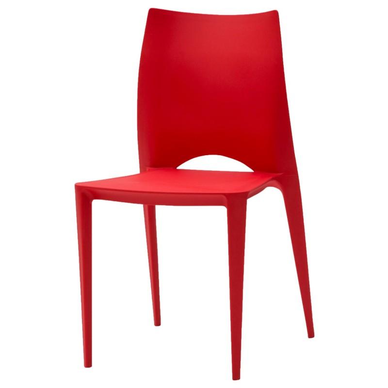 sedia moderna rossa nuova art lf591 consegna gratis