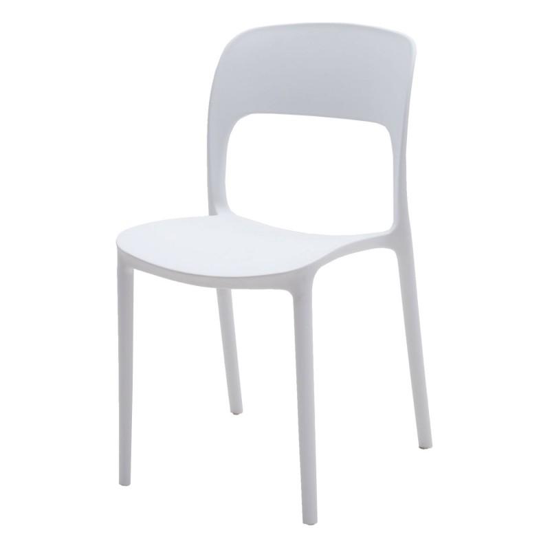 Sedia in plastica moderna bianca art lf634 consegna gratis for Sedia bianca moderna