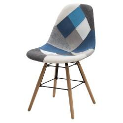 Sedia Patchwork grigio azzurro nuova art. LF663 consegna gratis-arredamentishop.it   Offerte mobili 68,00€ 68,00€ 68,00€ 6...