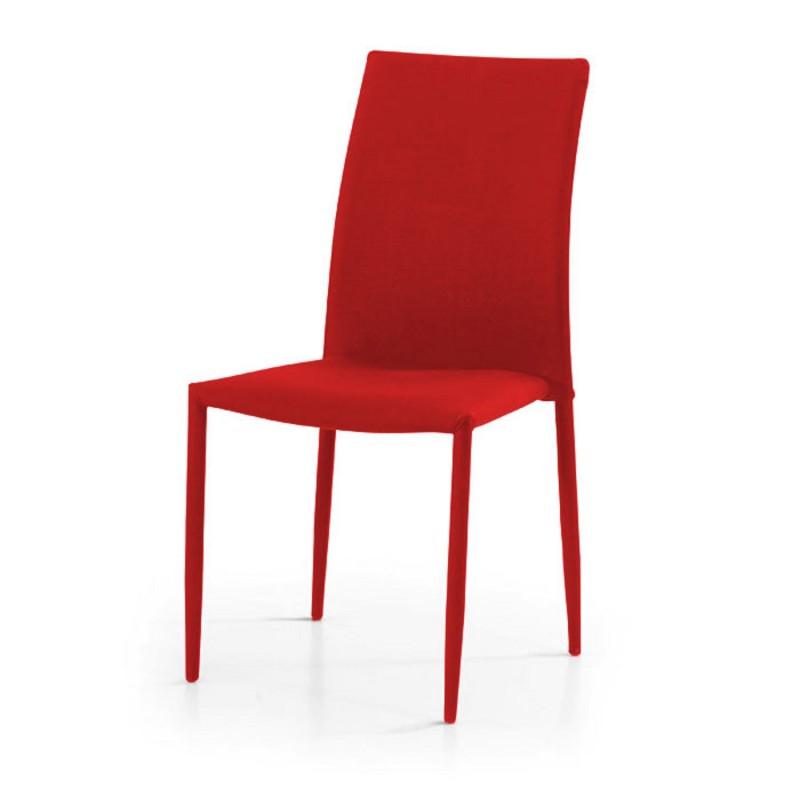 Sedia tessuto rossa nuova art.623 CONSEGNA GRATIS   Offerte mobili 40,00€ 40,00€ 40,00€ 40,00€