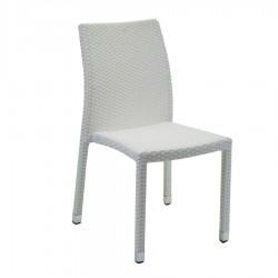 Sedia in polyrattan Adila bianco ghiaccio nuova art. 6446840000 consegna gratuita-arredamentishop.it   Offerte mobili 78,00€...