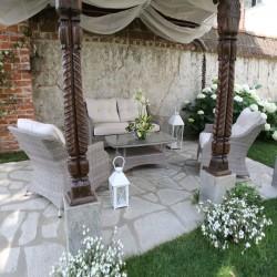 Salotto da giardino nuovo in polyrattan Atlanta grigio art. 6449090000 consegna gratis-arredamentishop.it   Offerte mobili 1,...