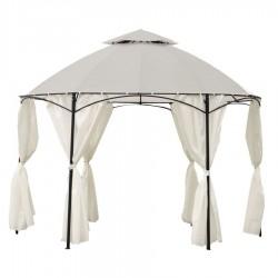 Gazebo Dakota tondo diam. 3.5 mt bianco con tende nuovo art.7403040000 consegna gratuita-arredamentishop.it   Offerte mobili ...