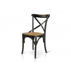 Sedia vintage in legno nera con seduta in rattan naturale nuova art.781 consegna gratuita-arredamentishop.it   Offerte mobili...