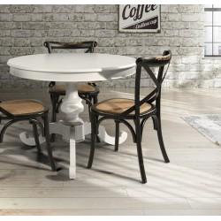 Sedia vintage in legno nera con seduta in rattan naturale nuova art. 781 consegna gratis-arredamentishop.it   Offerte mobili ...