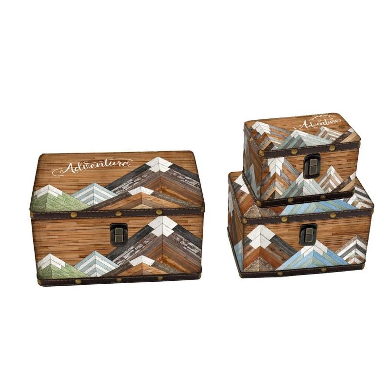 Scatola in ecopelle set 3 pezzi rettangolare nuova art. 1223630000 consegna gratuita-arredamentishop.it   Offerte mobili 39,0...