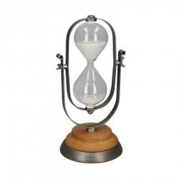 Clessidra in metallo e vetro con base in legno nuova art. 1865030000 consegna gratuita-arredamentishop.it   Offerte mobili 44...