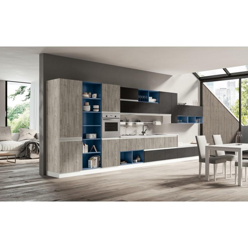 Arredamento Design In Offerta.Cucina Con Libreria Nuova Art Cucina3 Arredamentishop It