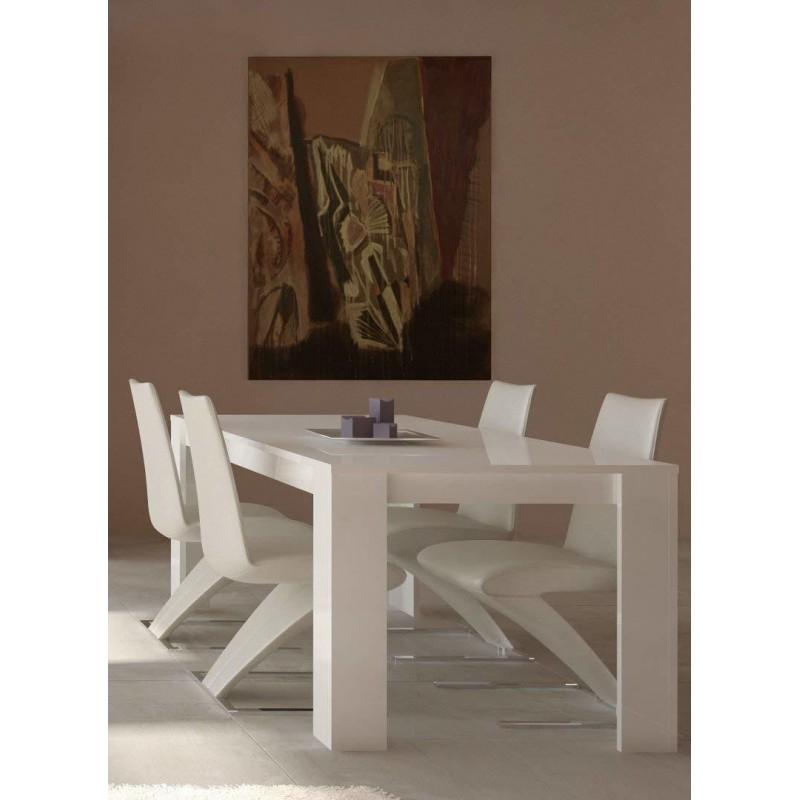Tavolo bianco laccato nuovo art.202M06BL consegna gratuita-arredamentishop.it   Offerte mobili 195,00€ 195,00€ 195,00€ 195...