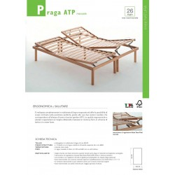 Rete matrimoniale reclinabile manuale nuova art.PRAGA ATP MANUALE consegna gratuita-arredamentishop.it   Offerte mobili 380,0...