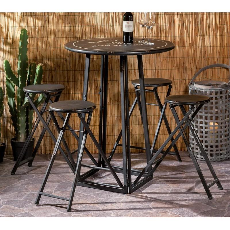 Tavolino Alto Da Bar Con Sgabelli Nuovo Art 54595 Consegna Gratuita Arredamentishop It