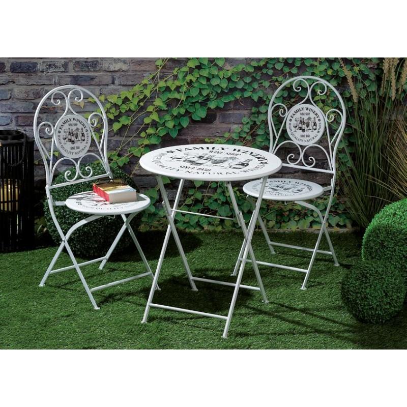 Tavolino Da Giardino Con Sedie Nuovo Art 55033 Consegna Gratuita Arredamentishop It