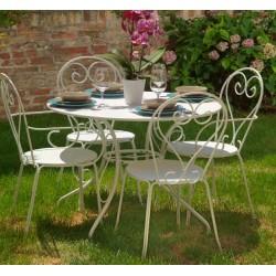 Sedia in ferro da giardino old bianca nuova art.6449480000 consegna gratuita-arredamentishop.it   Offerte mobili 50,00€ 50,0...