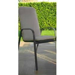 Poltrona in ferro da giardino antracite con cuscino nuova art.6449610000 consegna gratuita-arredamentishop.it   Offerte mobil...