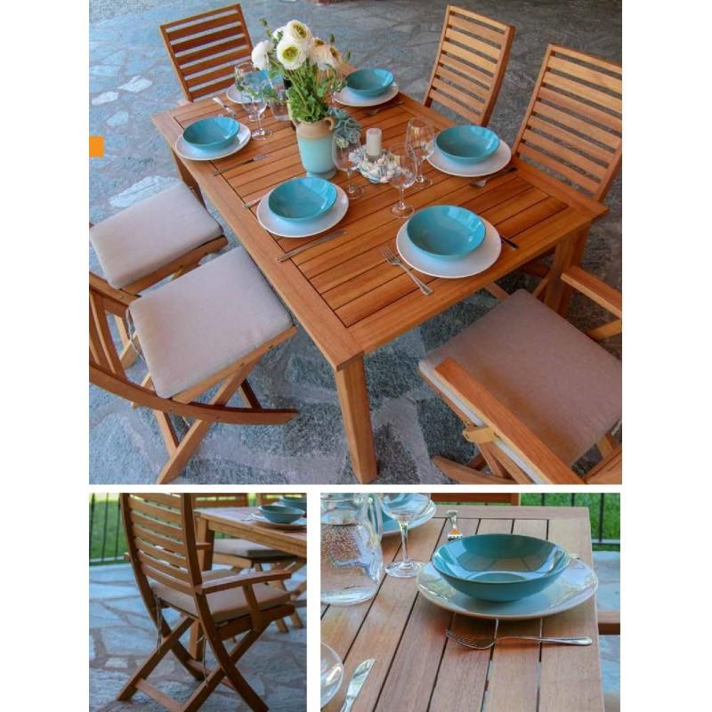 Offerte Tavoli Da Giardino Legno.Tavolo In Legno Da Giardino Nuovo Art 7403610000 Consegna Gratuita