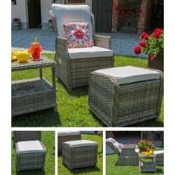 Poltrona da esterno con poggiapiedi e tavolino nuova art.6451590000 consegna gratuita-arredamentishop.it   Offerte mobili 595...
