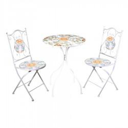 Tavolo in ferro battuto con mosaico e sedie nuovo art.6456320000 consegna gratuita-arredamentishop.it   Offerte mobili 150,00...