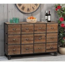 Cassettiera legno e ferro nuova art.45553 consegna gratis-arredamentishop.it   Offerte mobili 320,00€ 320,00€ 320,00€ 320,...