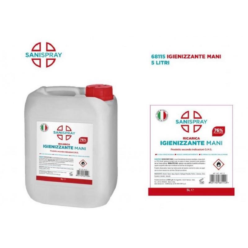 Gel igienizzante mani 5 litri ricarica Sanispray art.68115 consegna gratuita-arredamentishop.it  AD TREND Offerte mobili 39,0...