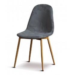 Sedie in velluto art.66729 colore grigio nuovo set 2 pezzi consegna gratuita-arredamentishop.it   Offerte mobili 120,00€ 120...