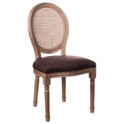 Poltroncina stile Luigi XVI marrone set 2 pezzi art.64145 nuova consegna gratuita-arredamentishop.it   Offerte mobili 230,00...