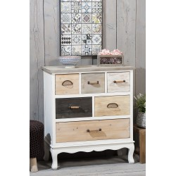 Mobile montato in legno cassettiera stile country nuova art.46612 consegna gratis-arredamentishop.it   Offerte mobili 190,00...