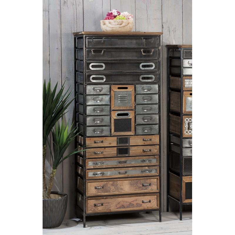 Cassettiera ferro e legno industriale nuova art.45521 consegna gratuita-arredamentishop.it   Offerte mobili 290,00€ 290,00€...