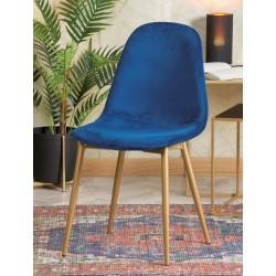 Sedia in velluto blu set 2 pezzi nuova art.66726 consegna gratuita-arredamentishop.it  AD TREND Offerte mobili 120,00€ 120,0...