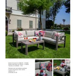 Salotto angolare da giardino in alluminio tortora nuovo art.6451530000 consegna gratuita-arredamentishop.it  Vacchetti Offert...