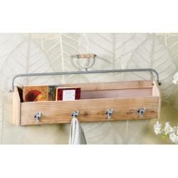 Mensola da parete in legno con appendini nuova art.60148 consegna gratuita-arredamentishop.it  AD TREND Offerte mobili 55,00...