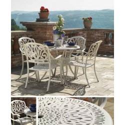 Tavolo alluminio tondo con 4 poltrone da giardino nuovo art.6453140000 consegna gratuita-arredamentishop.it  Vacchetti Offert...