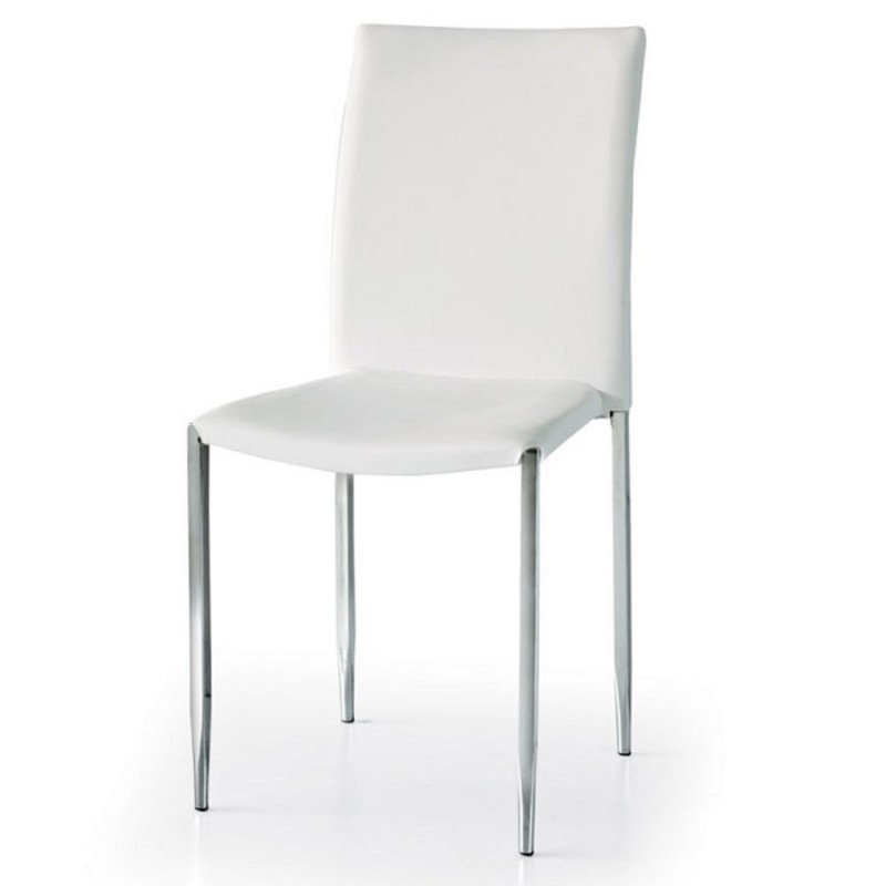 Sedia ecopelle set 4 pezzi bianca nuova art.663 consegna gratuita-arredamentishop.it  Tempesta Offerte mobili 260,00€ 260,00...