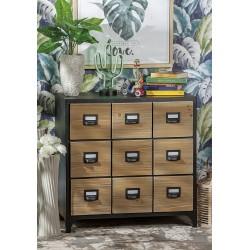 Mobile in legno e metallo cassettiera industrial nuova art.53242 consegna gratis-arredamentishop.it   Offerte mobili 220,00€...